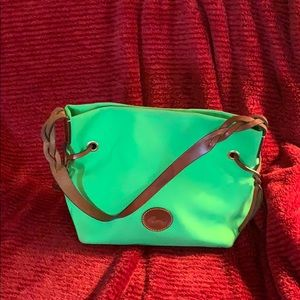 Dooney and Bourke Kelly green fabric purse